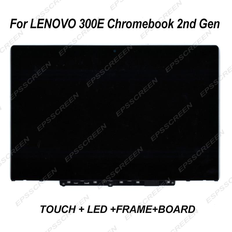 Touch Screen For 300e Chromebook 2nd Gen 81mb 81QC MTK MTM LCD Assemblies Digitizer Display Panel Bezel 5D10T95195 5D10Y67266