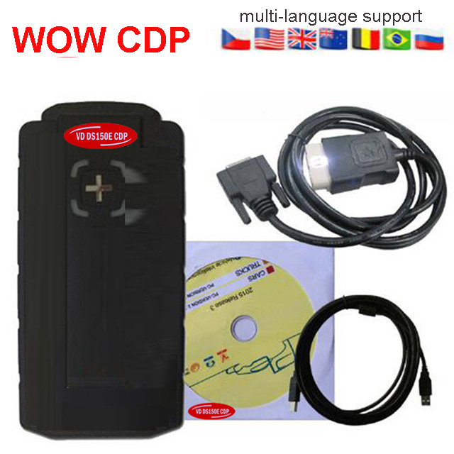 WoW Cdp Cars And Trucks 3in1 Diagnostic Tool Wurth With Keygen Bluetooth OBD2 Vd Ds150e Cdp Vd TCS CDP Pro For Delphis Autocoms