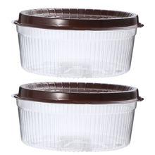 Caja de plástico transparente para pasteles, soportes para muffins, moldes para magdalenas, 10,5 pulgadas, 20 piezas