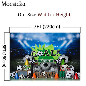 Image 3 - Mocsicka כדורגל כל כוכב ילד 1st יום הולדת צילום תפאורות עוגת לרסק תמונה אבזרי סטודיו תא רקע כדורגל דקור