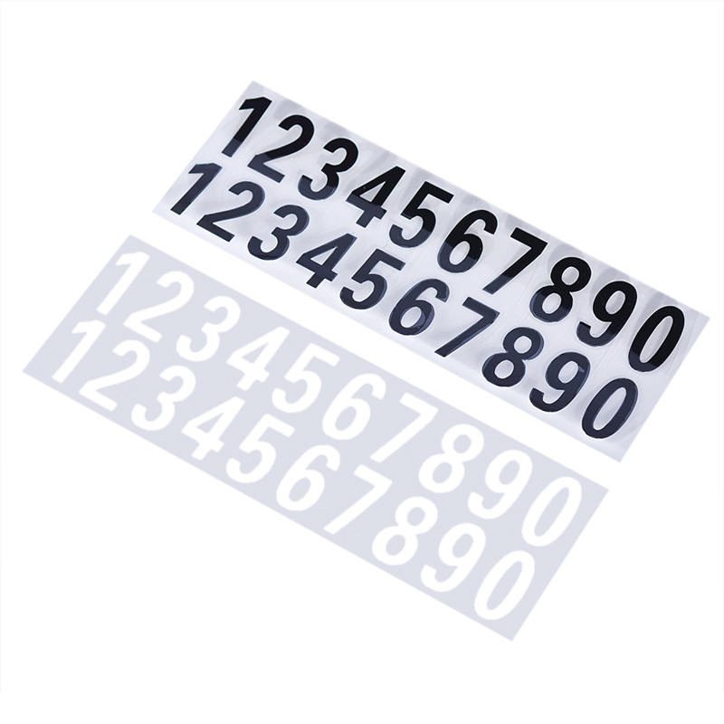 Car Or House Door Street Address Mailbox Number Digits Numeral Car Room Gate Vinyl Decal Reflective Stickers White Black