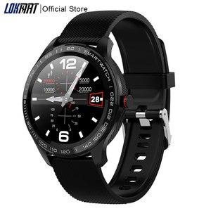 Lokmate IP68 Водонепроницаемые Bluetooth Смарт-часы мужские ECG PPG пульсометр кровяное давление Fitnesss трекер музыка Smartwatch для ios