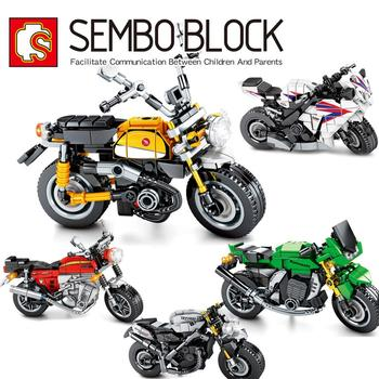 in stock 2133 pcs lepin 15002 cafe corner 15019 4002pcs assembly square model building kits toys moc legoinglys 102555 10182 SEMBO Technic MOC Motorcycle Building Blocks Models Motorbike DIY Collection Model Kits Bricks Toys for Boys Education Gifts