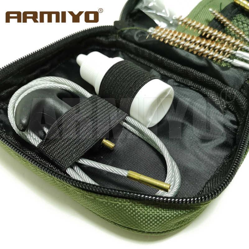 Armiyo 42 قطعة/المجموعة. 17Cal. 22Cal. 27Cal. 30Cal بندقية الأنظف اثقب مسدس و بندقية برميل تنظيف مجموعة فرش الصيد اكسسوارات