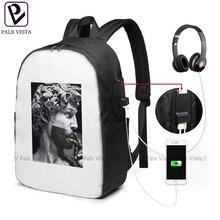 Tupac Backpack Michelangelo X Tupac Backpacks Trending Teenage Bag Multifunction High quality Man - Woman Bags tupac conspiracy