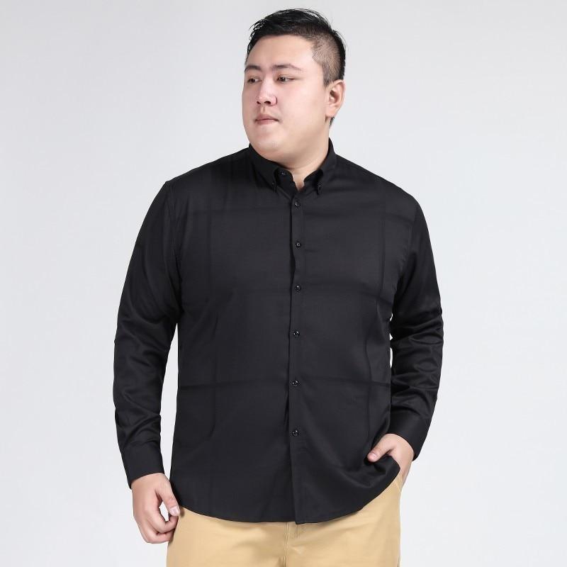Plus Size 8xl 7xl 6xl New Autumn Fashion Brand Men Clothes Men Long Sleeve Shirt Men Cotton Casual Men Shirt Social Plus Size
