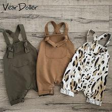 Kombinezony chłopięce VearDoller 2020 nowe letnie ubrania dla dzieci moda wzór w cętki niemowlę jednoczęściowe dla dziewczynek duża kieszeń śpioszki dla niemowląt tanie tanio COTTON Poliester Drukuj O-neck Swetry Unisex Bez rękawów G223 Pasuje prawda na wymiar weź swój normalny rozmiar cotton blend