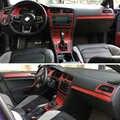 Per VW Volkswagen Golf 7 MK7 Interno Pannello di Controllo Centrale Maniglia Della Porta 5D Adesivi In Fibra di Carbonio Decalcomanie Car styling Accessorie