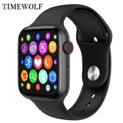 2020 Timewolf スマート腕時計アンドロイド腕時計 IP68 防水スマートウォッチオムスポーツスマート Android の電話のため Apple の Iphone