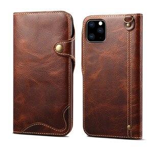 Image 5 - 수제 전화 커버 아이폰 11 프로 최대 12 6S 7 8 플러스 지갑 플립 케이스 아이폰 XS 맥스 X xr에 대한 고급 정품 가죽 케이스