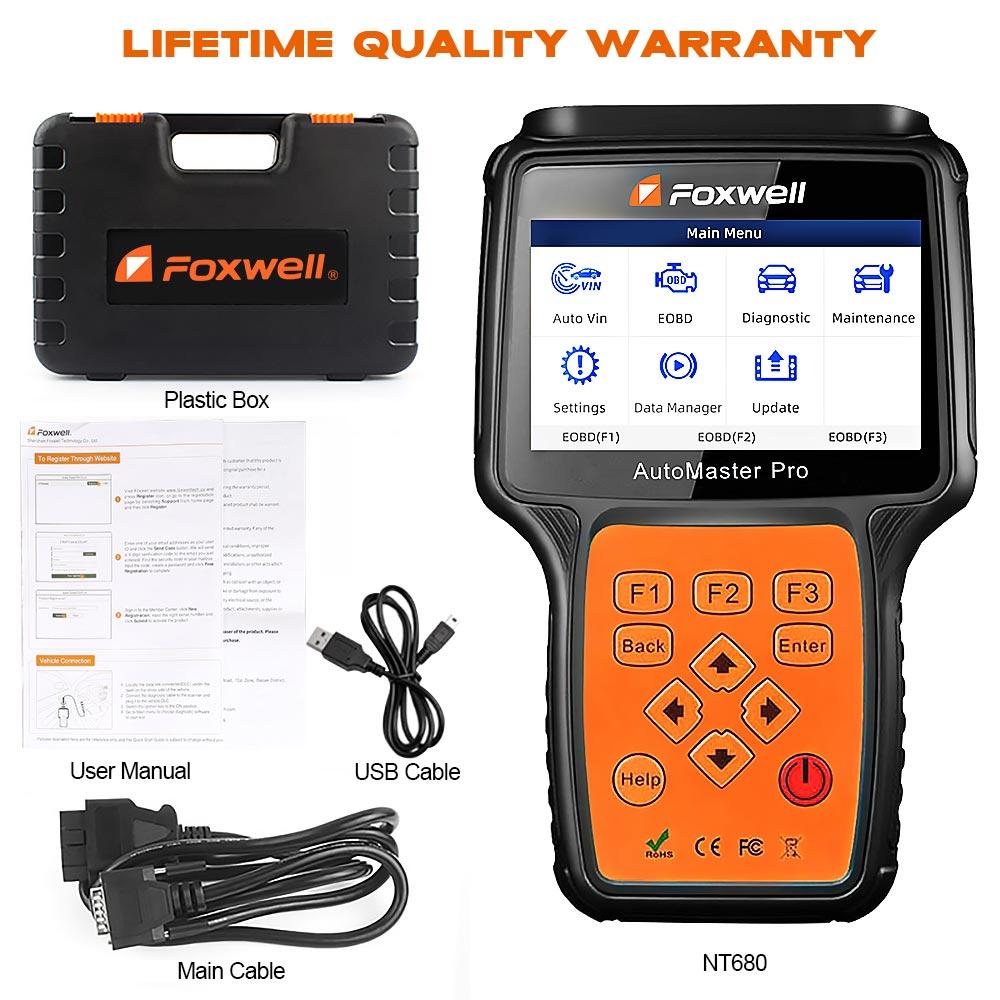 Image 5 - Foxwell nt680 pro todos os sistemas scanner de diagnóstico com luz de óleo/restauração serviço + funções epb versão atualizada do sistema completo nt624Leitores de código & Ferramentas de Verificação   -