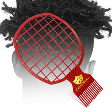 2 In 1 Twist Hair Comb African Men's Hairdressing Comb Twist Curl Brush Comb Set  Detangling Hair Brush Hair Wash Brush rimei abs band top comb tail comb set brown 2 pcs