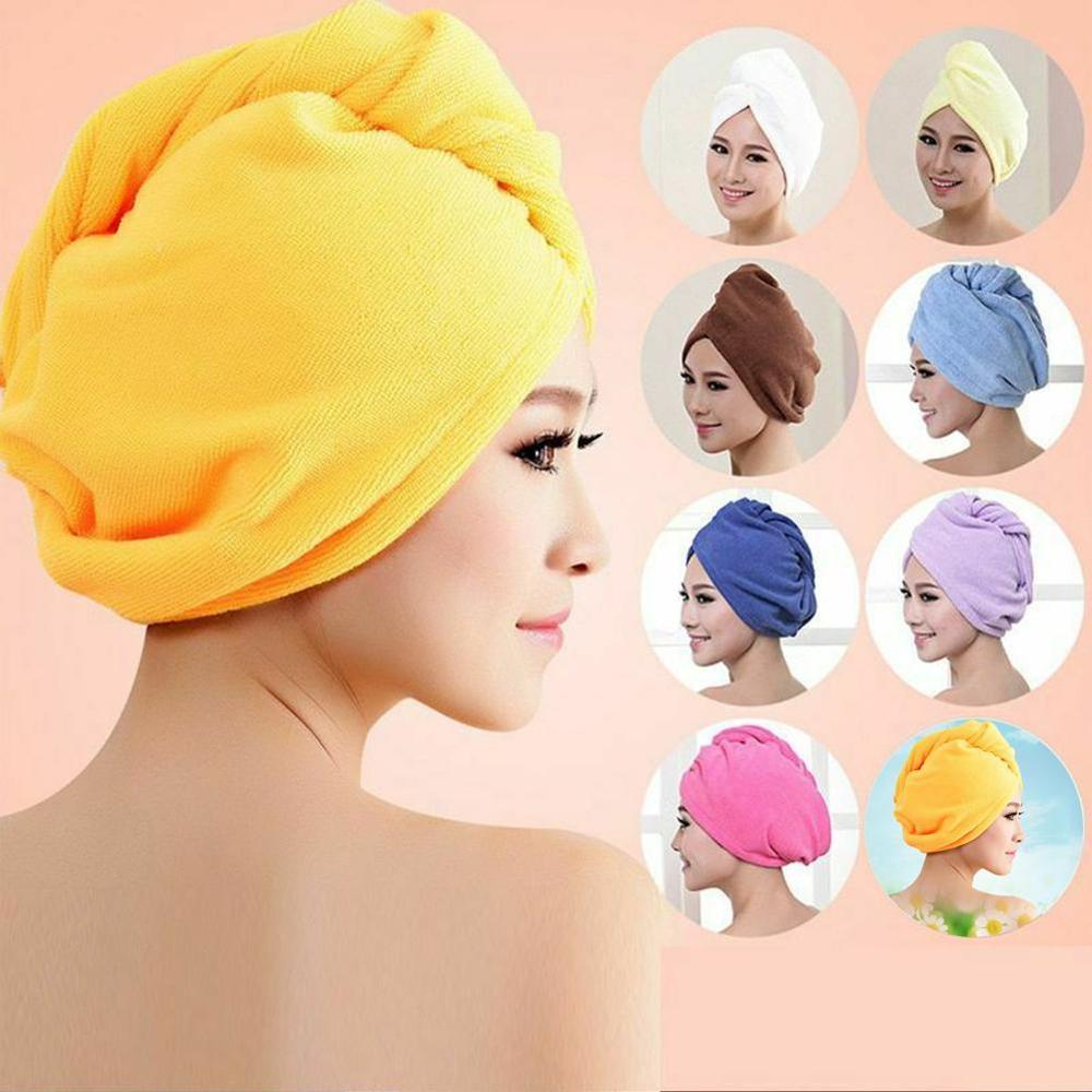 Women Bathroom Super Absorbent Quick-drying Thicker microfiber Bath Towel Hair