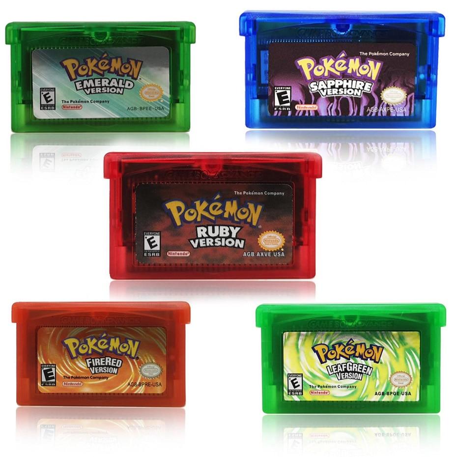 Galleria fotografica 32 Bit Cartuccia del Video Gioco Console Card per <font><b>Nintendo</b></font> GBA Pokemon Serie Smaltato Snakewood Flora EnglishLanguageThe Prima Edizione
