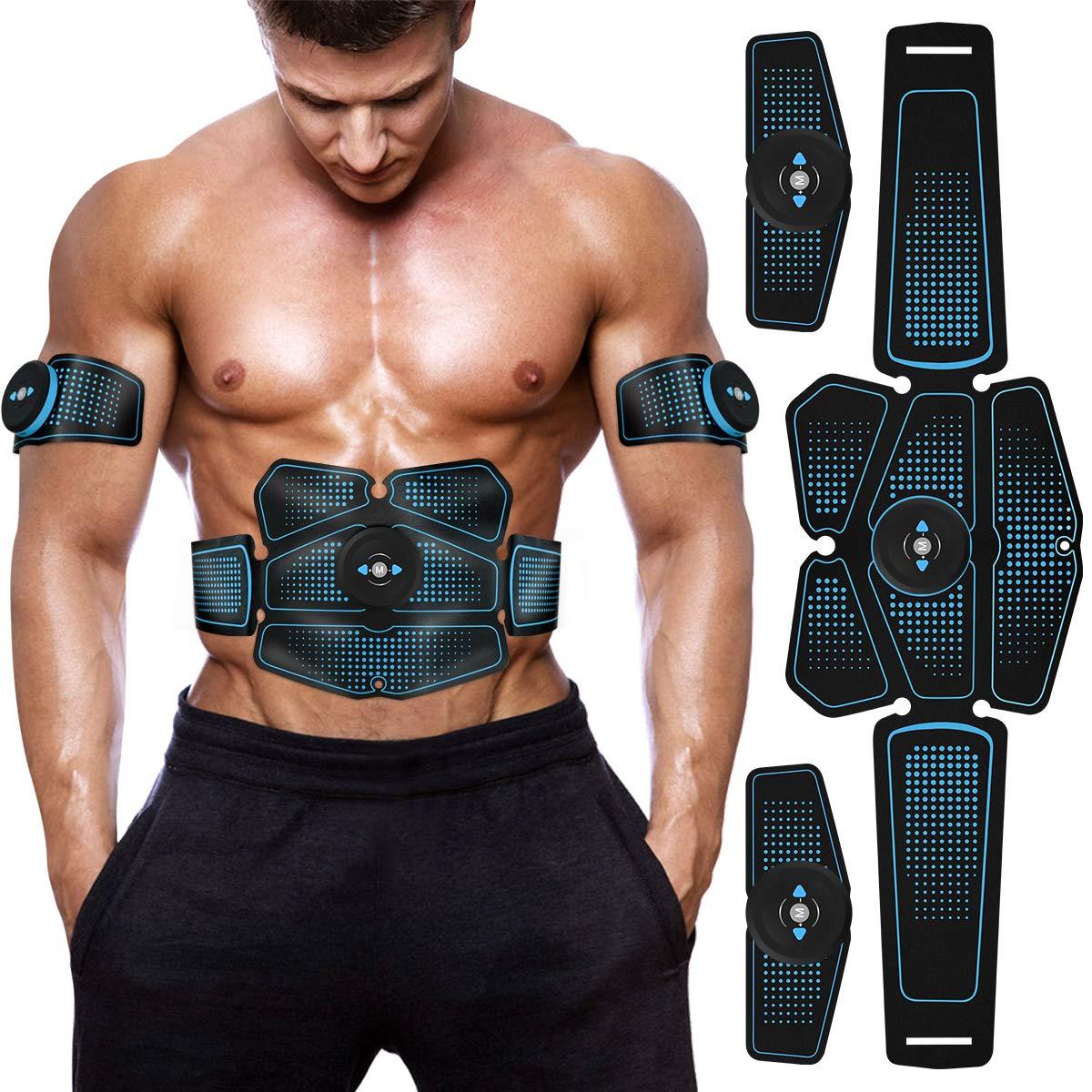 Körper Gebäude Fitness Ausrüstungen Elektrische Muscle Toner Maschine Drahtlose Toning Gürtel 6 Sechs Pack Abs Fett Brenner
