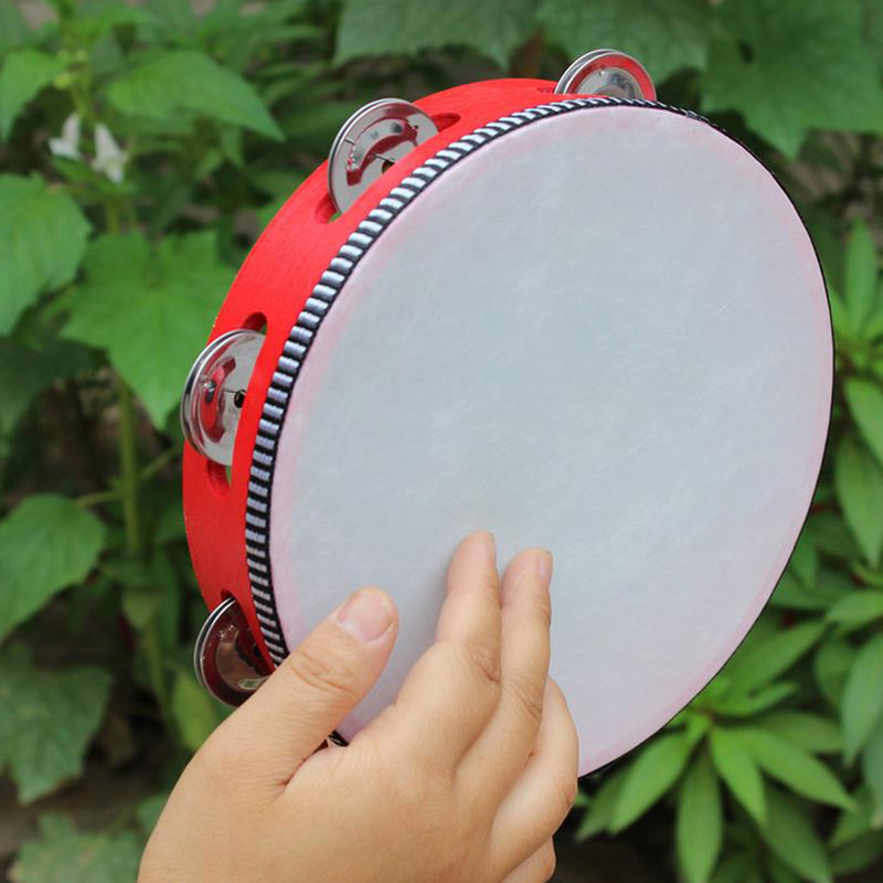 Kids Mini Drum Early Educational Musical Instrument Toys Wooden Hand Cymbals Drum For Children 6 Inches SAL99