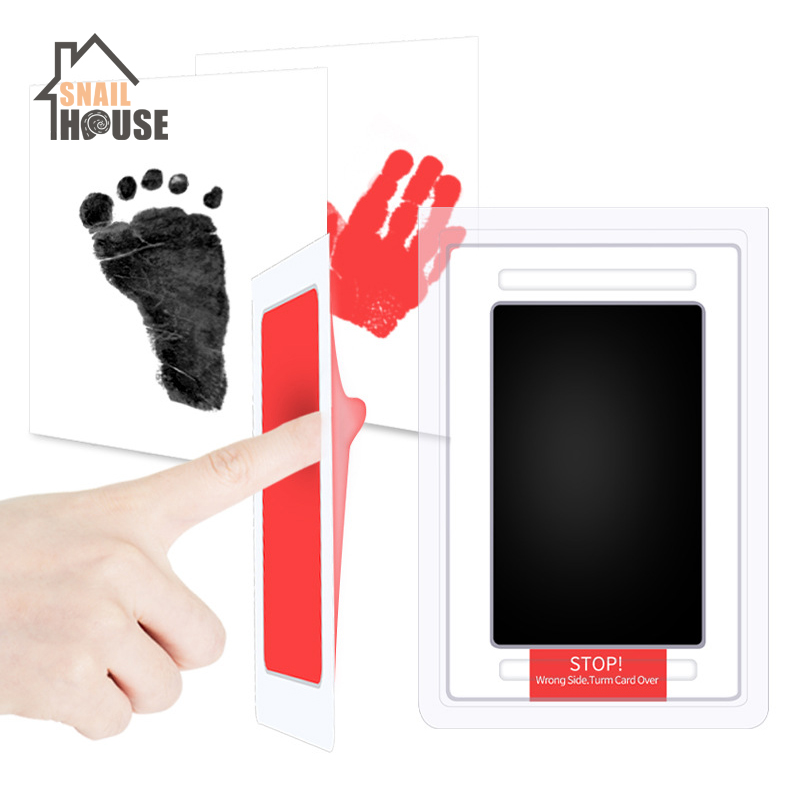 Snailhouse Baby Care Non-Toxic Handprint Kit Imprint Foot Imprint Color Pad Baby Souvenirs Newborn Hand Footprint Toy 6 Colors