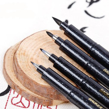 Stationery Brush-Pen Ink-Pens Calligraphy-Pen-Markers School-Supplies Office Writing-Drawing