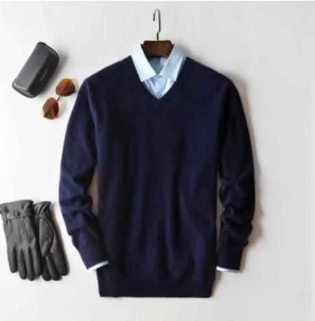 Cashmere Cotton Blend Pullover Men Sweater 2020 Autumn Winter Man Clothes Jersey Sueter Hombre Pull Homme Sweter Mens Jumper 4
