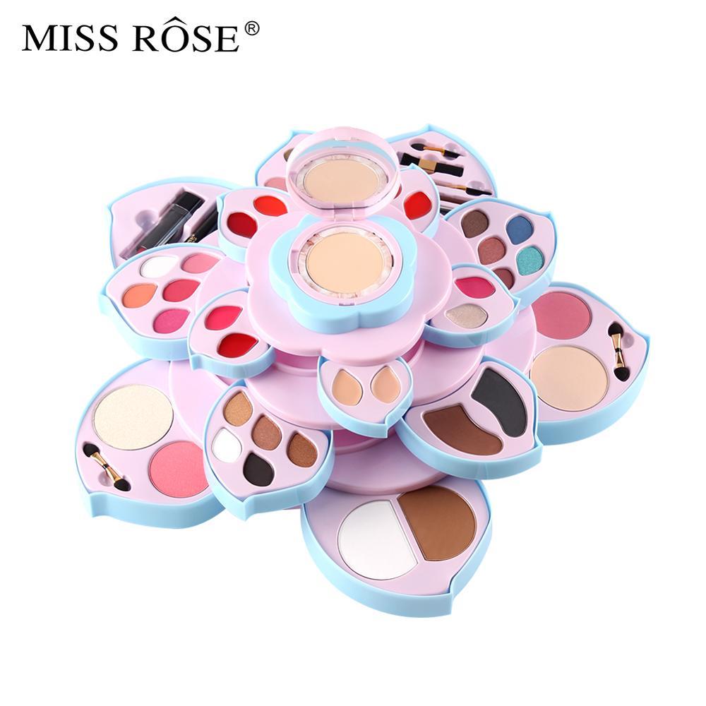 Miss Rose di trucco della gamma di colori di luccichio opaco ombretto in polvere trucco viso fard impermeabile di lunga durata batom nude lip gloss MS210 - 2