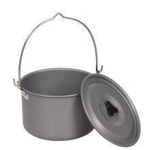 4.2L Кемпинг подвесной горшок Сверхлегкий Открытый одиночный горшок алюминиевый сплав оборудование для кемпинга инструменты для пикника походная посуда