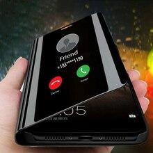 Зеркальный чехол для samsung galaxy s10 5G s9 s8 plus s10E, флип-чехол с подставкой для телефона samsung s 10 9 8 s9plus s10plus s8plus, coque