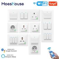DE EU WiFi Smart Push Licht Wand Schalter ButtonSmart Leben Tuya Drahtlose Fernbedienung Arbeit mit Alexa Google Hause