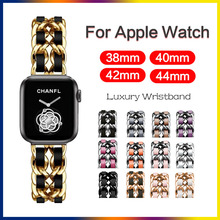 Bracelet Apple Watch Iwatch-Series Luxury-Band Stainless-Steel Strap for 6-se/5/4/..