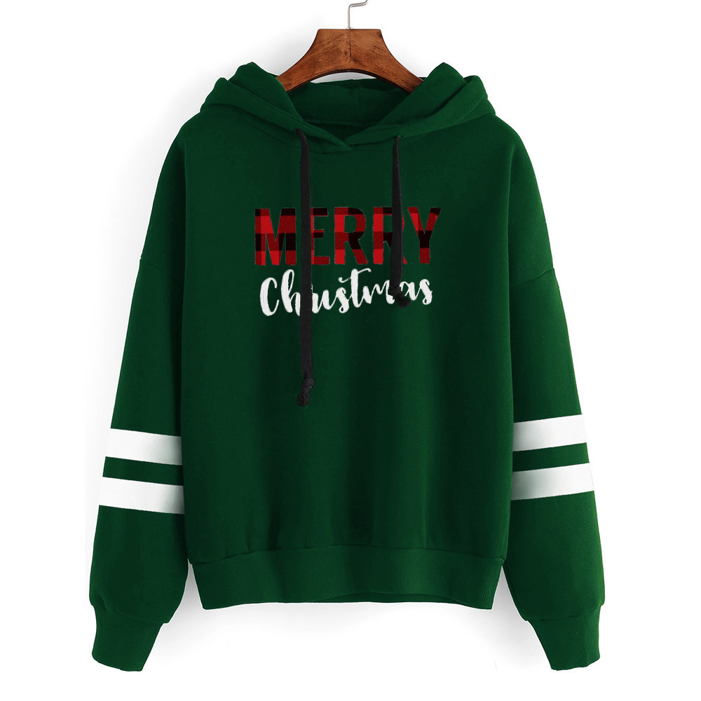 Womens Christmas Oversized Hoodie Streetwear Merry Christmas 2019 Festival Clothing Vintage Pullovers Casual Clothes Gothic