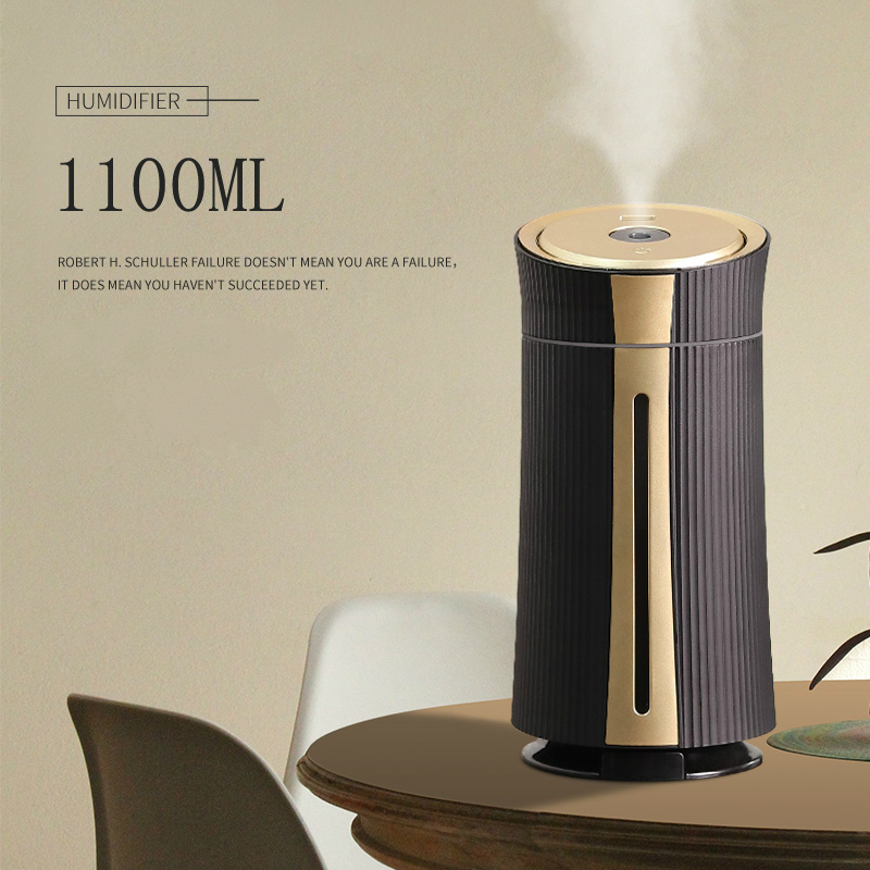 New 1100ML Air Humidifier Ultrasonic USB Diffuser Aroma Essential Oil 7 Color Night Light Cool Mist Purifier Humidificador Gift