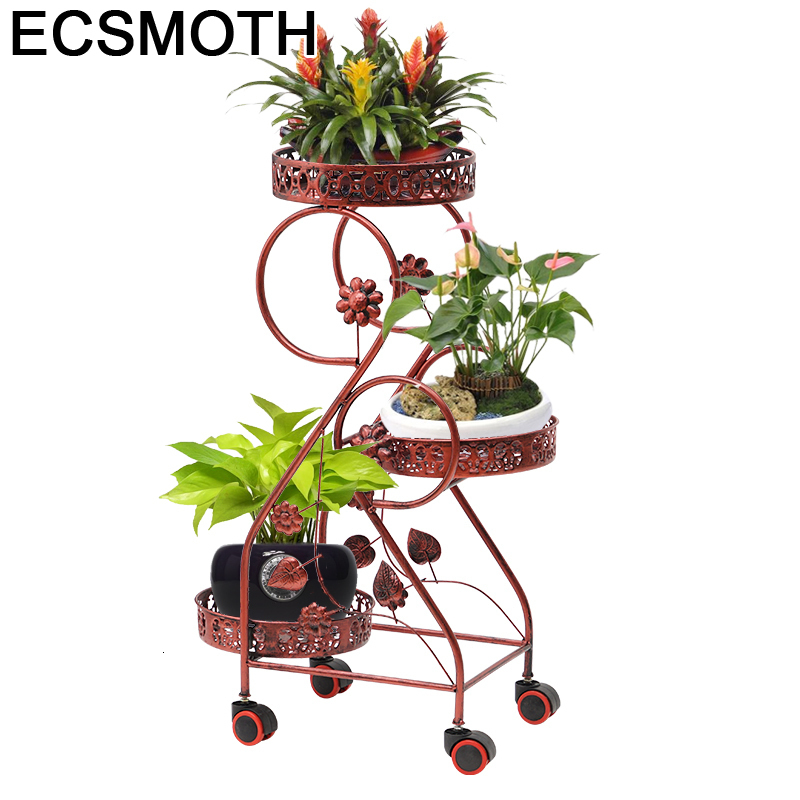 Porta Piante Varanda Decorer Balcone Decor Metal Raflar Outdoor Decoration Sera Shelf Balcon Balkon Plant Stand Flower Iron Rack