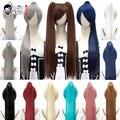 Парик для косплевечерние HSIU из высокотемпературного волокна, синтетические волосы для вечерние в стиле аниме, хвост, длина 80 см, 14 цветов