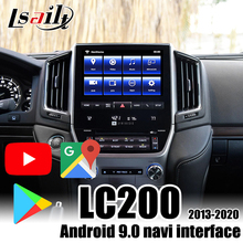 Android 9,0 Multimedia Video Interface Navigation Box für Land Cruiser LC200 VXR GXR 2013-2020 unterstützung Android auto 4 + 64G