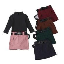 Для малышей для отдыха в ночном клубе модная классная юбка комплект