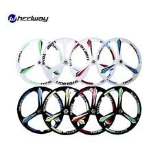 2 stuks 24 inch 26 inch voor en achter road fietswielen fiets fixed gear racefiets wiel magnesiumlegering drie-spoke onderdelen