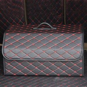 Image 3 - سيارة الجذع المنظم متعددة الأغراض بولي Leather الجلود للطي سيارة جذع صندوق تخزين أكياس تستيفها tidie لسيارة SUV