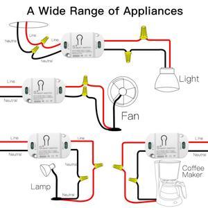 Image 3 - Aubess Tuya WiFi חכם מתג טיימר 10A DIY אלחוטי מתגי חכם בית אוטומציה תואם עם Alexa Google בית חכם חיים