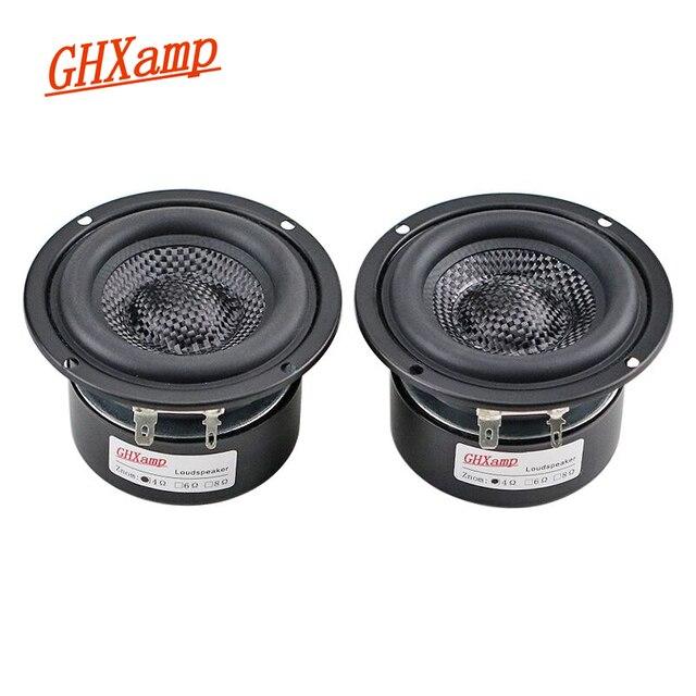 Fiberglass Braided 3 Inch Woofer Subwoofer Hifi Speaker Unit Powerful Low Frequency 4OHM 25W 2PCS