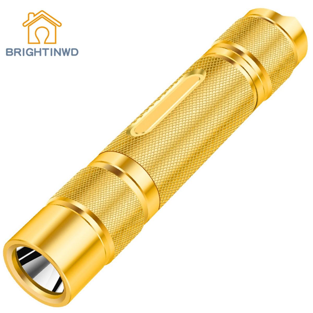 Pure Copper Flashlight Charging Super Bright Waterproof Multifunctional Long-range Portable Led Mini Flashlight