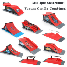 Fingerboard Finger Board Ultimate Parks Finger Skateboards Skate Park Ramp Parts for Tech Deck Toys for Kids Christmas Gifts