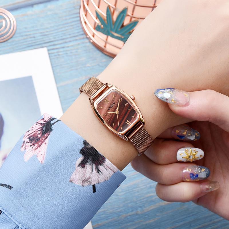 GAIETY Fashion Casual Women Watches Luxury Gold Mesh Belt Quartz Wristwatch Ladies Watch For Women Female Clock Relogio Feminino