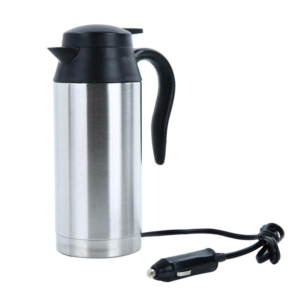 24V 750ML Stainless Steel Electric Kettle Car Tea Kettle Water Heater Electric Cup Electric Kettle