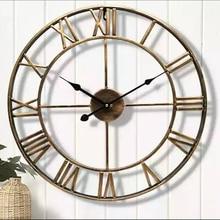 Relógio de parede estilo europeu relógio de ferro retro relógio de parede decoração de casa relógio de parede europeu estilo retro design independenteRel. parede