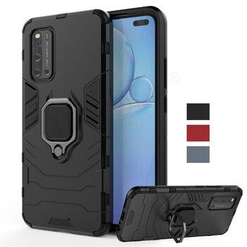 Перейти на Алиэкспресс и купить Чехол для Vivo V19, чехол для Vivo V17 V15 V11 Pro, магнитный кольцевой держатель, силиконовый армированный бампер для телефона, чехол для Vivo V19