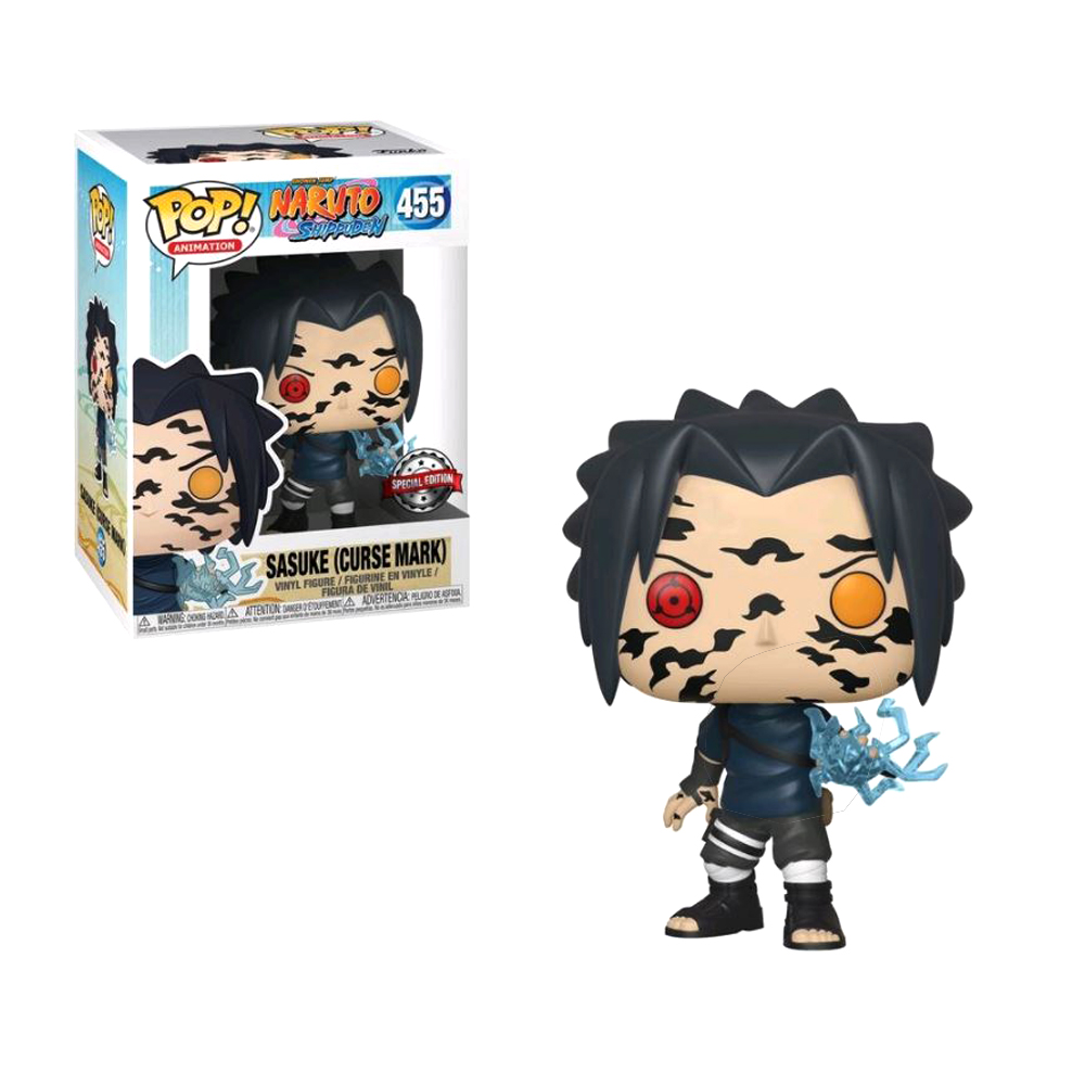 FUNKO POP Naruto Shippuden Sasuke Curse Mark 455# Vinyl Action Figures Collection Model Toys for Children Birthday giftAction & Toy Figures   -