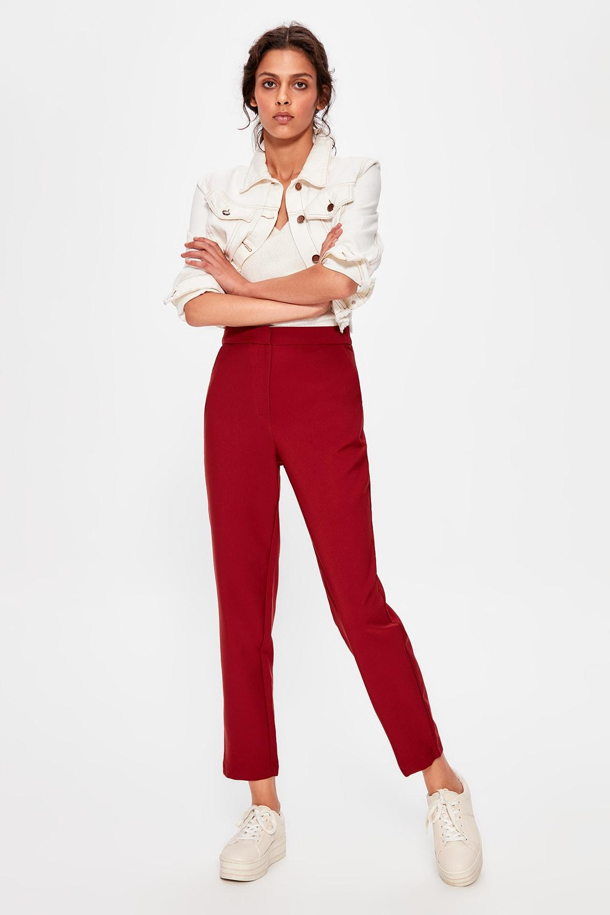 Trendyol Kahverengi Narrow Bell-Bottomed Pants TWOAW20PL0060