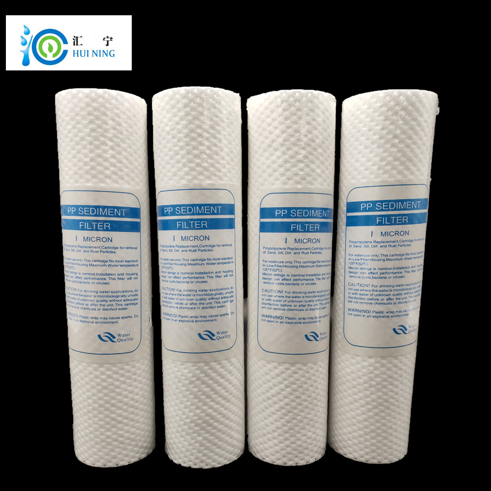4pcs Water Purifier 10 Inch 1 Micron Sediment Water Filter Cartridge PP Cotton Filter Water Filter System Water Polypropylene