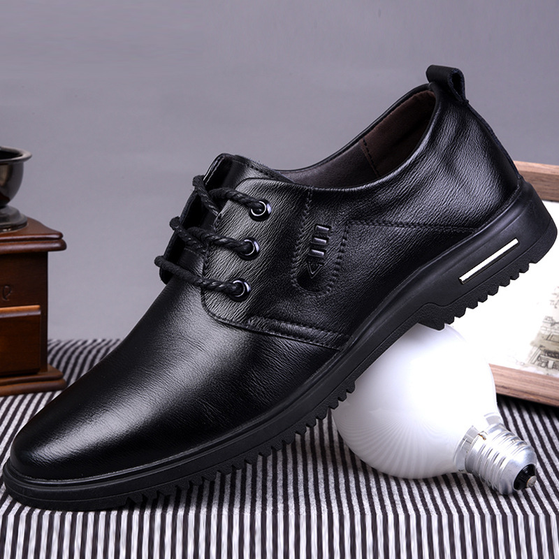 Fashion New Spring Autumn Men's Flat Shoes Casual Shoes Lightweight Comfortable Men's Shoes Fashion Leather Loafers Shoes