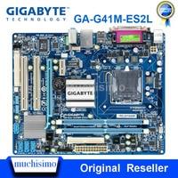 GIGABYTE GA-G41M-ES2L настольная материнская плата G41 Socket LGA 775 G41M-ES2L для Core 2 DDR2 8G Micro ATX оригинальная б/у материнская плата