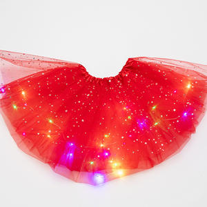 Girls Pettiskirt Tutu Skirt Kids Magic Light Fashion Glitter Princess Fluffy Ballet Stars Sequin Party Tulle Dancewear Clothes